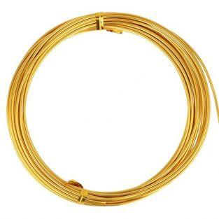 Aluminum wire 5 m x 1.5 mm - gold