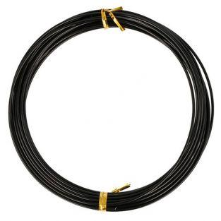 Aluminum wire 5 m x 1.5 mm - black
