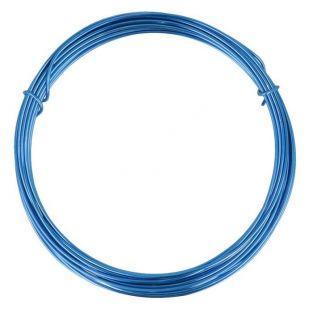 Fil d'aluminium 5 m x 1,5 mm - bleu