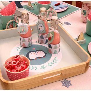 12 étiquettes 3D Noël - My little Christmas