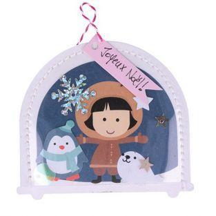 Kit Boule à neige de Noël en papier
