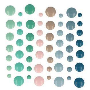 64 gotas de esmalte adhesivas - Mi pequeña Navidad