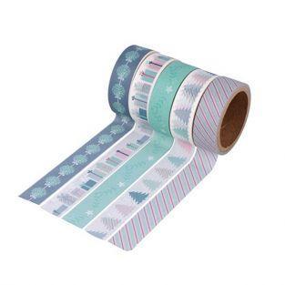 5 washi tapes 5 m x 1,5 cm - Mi pequeña Navidad