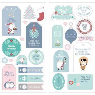 27 pegatinas papa Noel - Mi pequeña Navidad