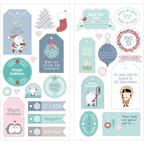 27 Stickers puffies Père Noël - My little Christmas