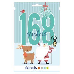 Folleto 168 pegatinas papa Noel - Mi pequeña Navidad