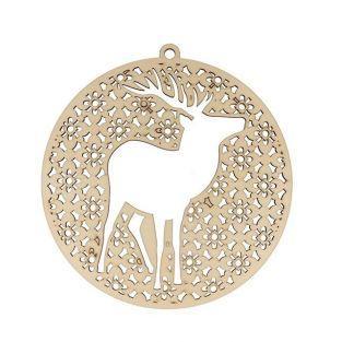 Medallion Ciervo Invierno Brumoso