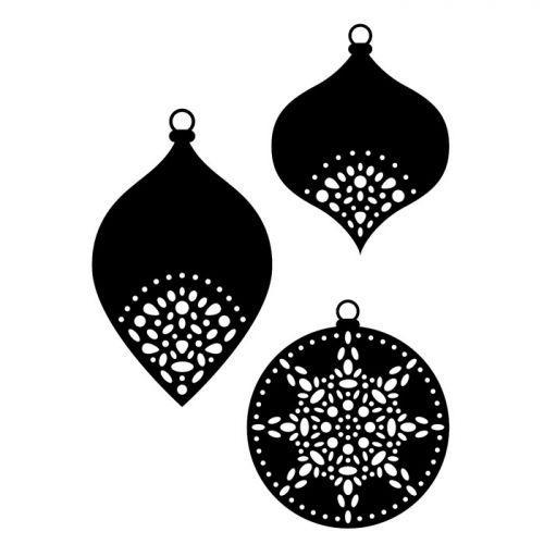 Matrices de découpe Boules de Noël