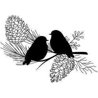Tampons transparents Oiseaux - 7 x 9 cm