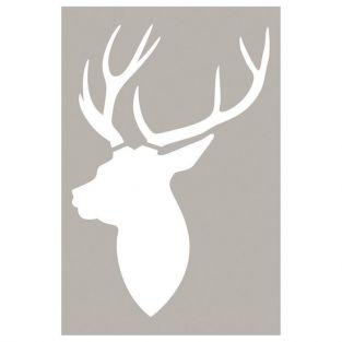 Stencil deer head 10 x 15 cm