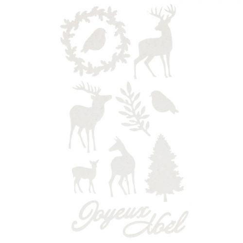 Stickers floqués Cerfs de Noël - Misty Winter