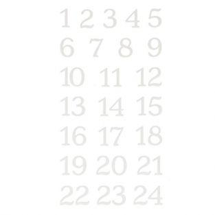 24 pegatinas flocadas Cifras - Invierno Brumoso