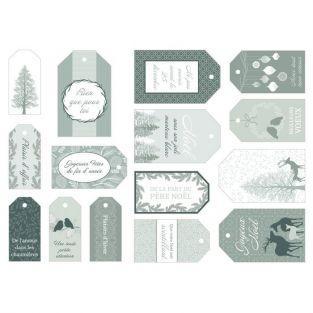 15 etiquetas para regalos de Navidad - Invierno Brumoso