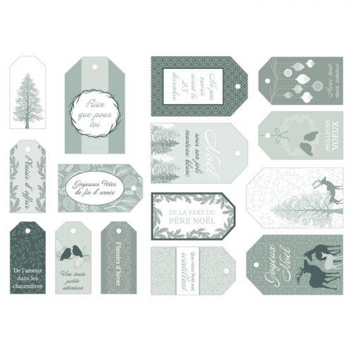 15 Christmas gift tags - Misty Winter