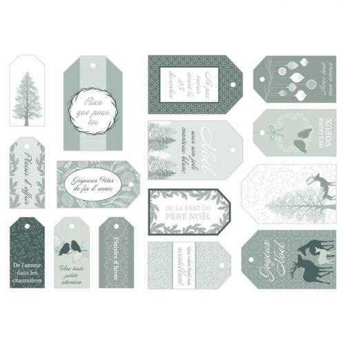 15 étiquettes cadeaux de Noël - Misty Winter