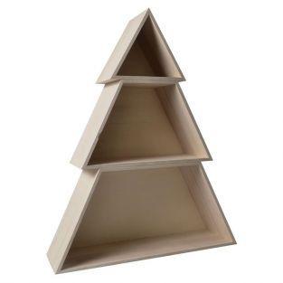 Etagère en bois Sapin 3 pièces - 48 x 14 x 60 cm