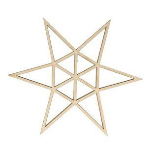 Origami wooden silhouette - 6-pointed star