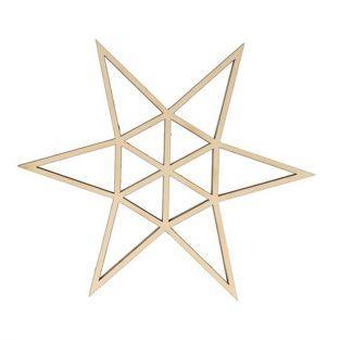 Silueta de madera origami - Estrella de 6 puntas