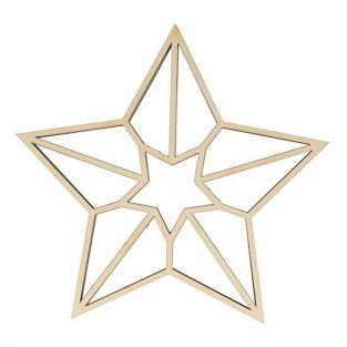 Origami wooden silhouette - 5-pointed star