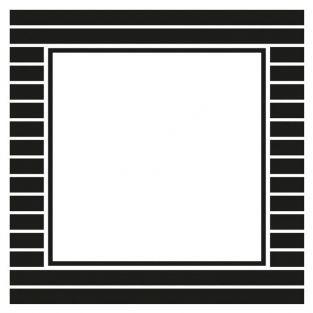 12 stickers carrés 6,3 cm - Rayures noires et blanches