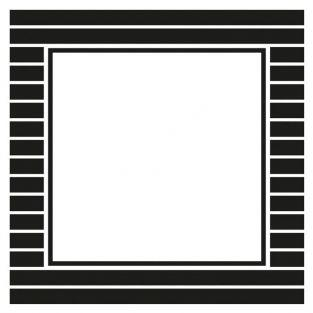 12 square stickers 6.3 cm - black & white stripes