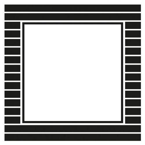 12 square stickers 6.3 cm - black & white stripes