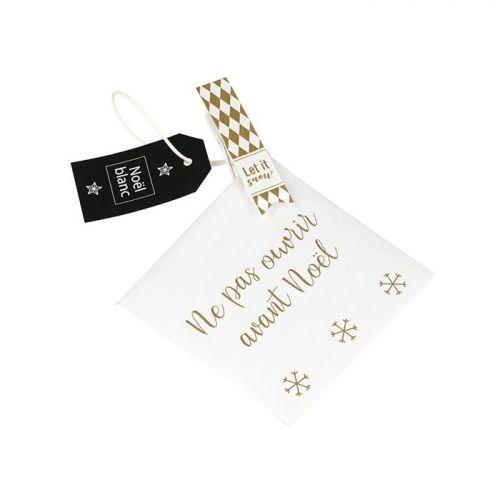 48 enveloppes Calendrier de l'Avent & Noël - Golden Deer
