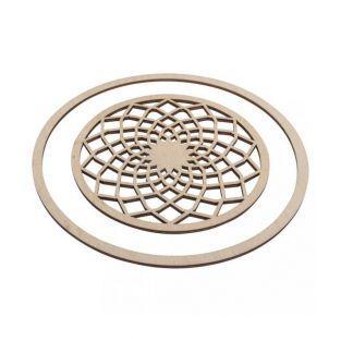 Disques en bois pour Attrape-rêves Ø 13 cm + anneau 18 cm