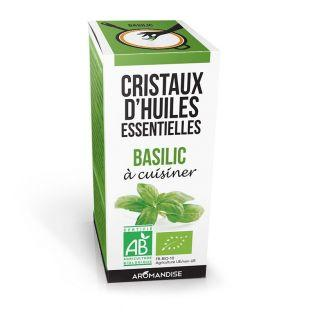 Cristales de aceites esenciales - Albahaca