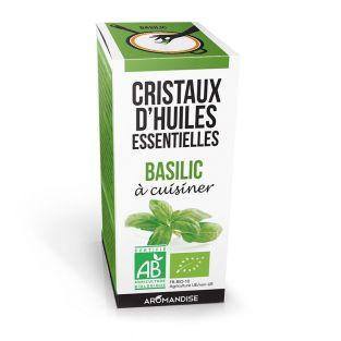Cristaux d'huiles essentielles Basilic