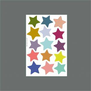 15 stackable playful wall magnets - Stars