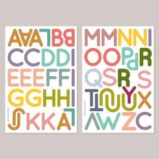 53 magnets muraux ludiques superposables - Alphabet