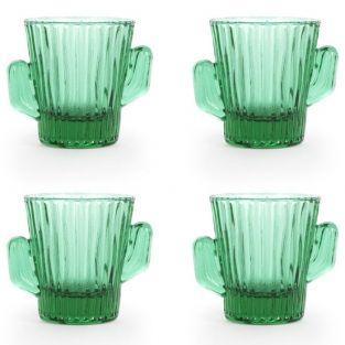 4 Tequila shot glasses Cactus