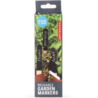 12 reusable garden markers