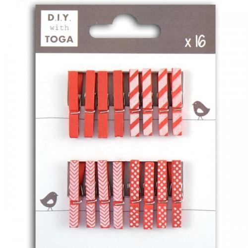 Mini pinces à linge rouges