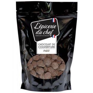 Palets de chocolat de couverture 1 kg - noir