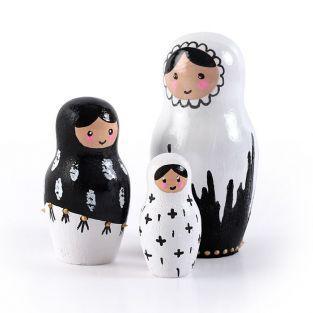 Pequeños moldes de yeso de látex - Muñecas rusas