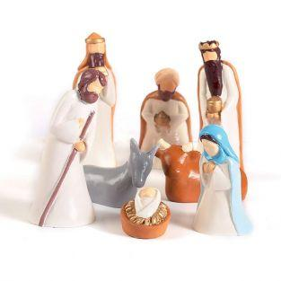Small latex plaster molds - Christmas crib figurines