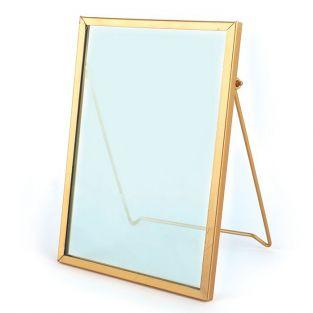 Vintage glass frame - rectangle - 13 x 18.5 cm