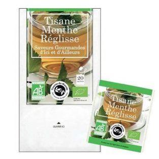 Té de hierbas Menta y regaliz orgánicos - 20 bolsas