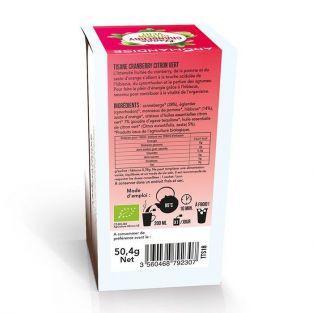Tisane cranberry et citron vert biologique - 18 sachets