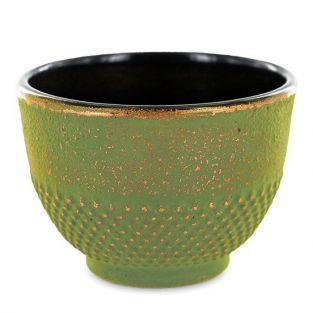 Green & bronze cast iron cup - 0,15 L