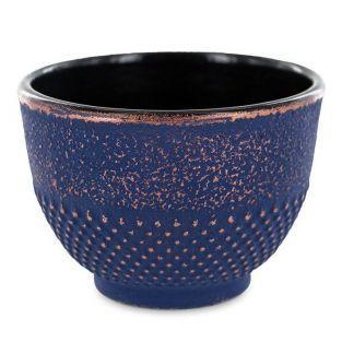 Taza de hierro fundido azul y bronce - 0.15 L
