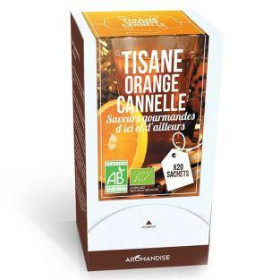 Organic orange & cinnamon herbal tea - 20 bags