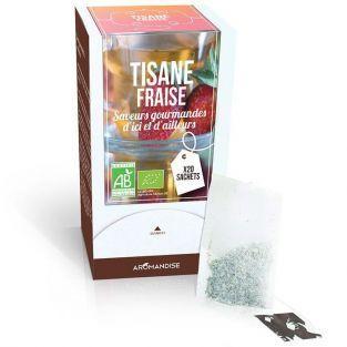 Té de hierbas Fresa y hibisco orgánicos - 20 bolsas