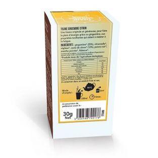 Tisane gingembre et citron biologique - 20 sachets