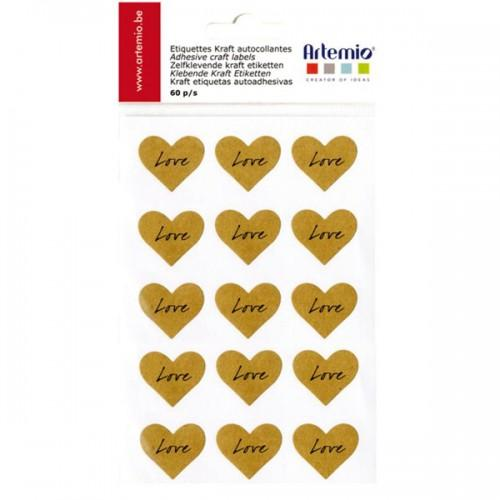 "Heart ""Love"" Stickers"