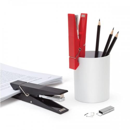 Grapadora blanca pinza de madera accesorios de oficina - Grapadora para madera ...