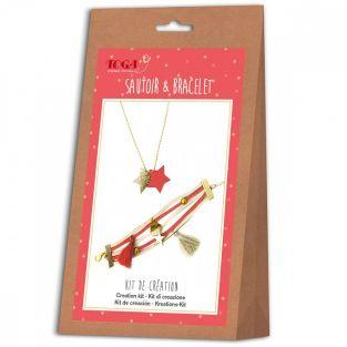 Jewelry creation kit - bracelet & necklace - Juicy