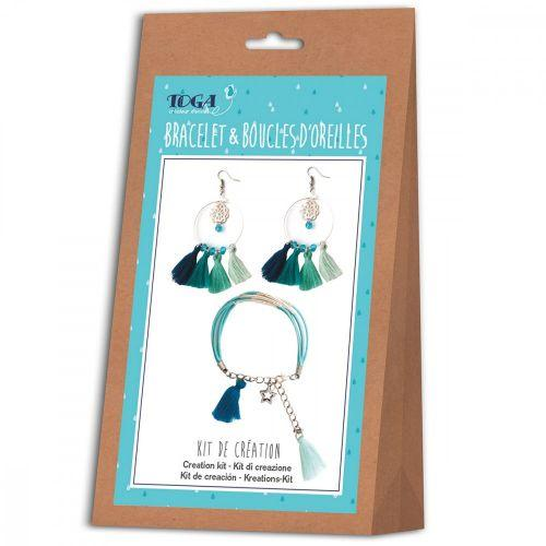 Kit de création de bijoux - bracelet et boucles d'oreilles - Ice